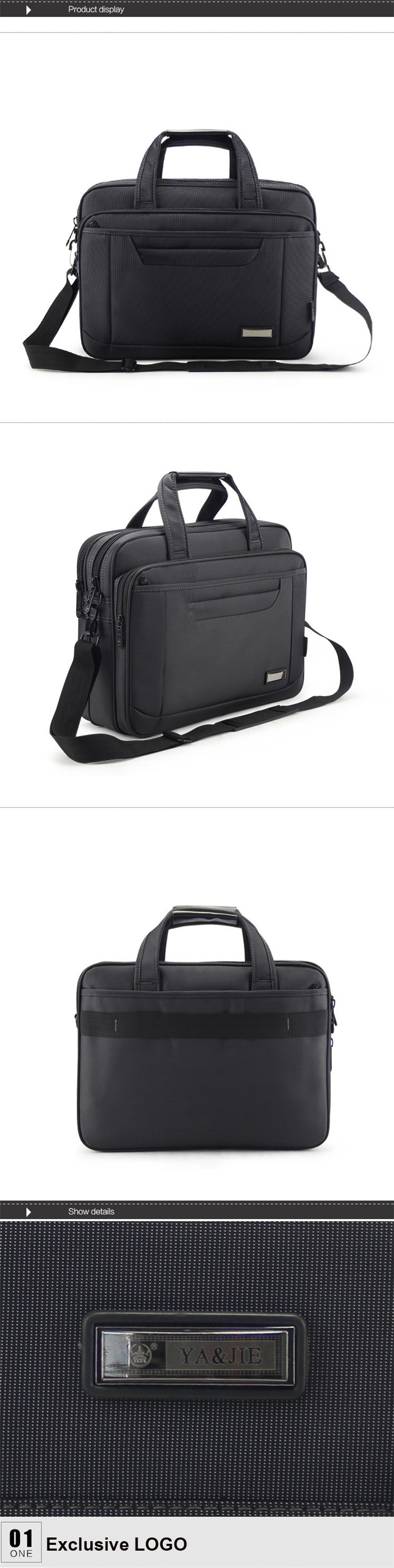 H8e9ce33204d4484e957b854ea4dc9930Q - OYIXINGER Briefcase Lawyer Men Computer Hand Bags Luxury Brand Mens Business Bag Oxford Waterproof Office Work For Maletas