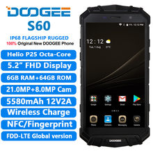 Real IP68 Doogee S60 5580Mah Smartphone 12V2A Quick Charge 5.2 ''Fhd Helio P25 Octa Core 6Gb 64gb 21.0MP Nfc Otg Mobiele Telefoon(China)
