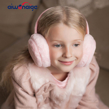 2019 solid color childrens winter warm earmuffs boys and girls headphones fluff comfort baby ski