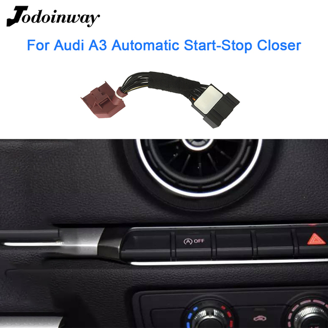 Car Engine Restart For Audi A3 8V 2016 2020 Automatic Start-Stop OFF Switch Default Closure Device Start Stop System 1