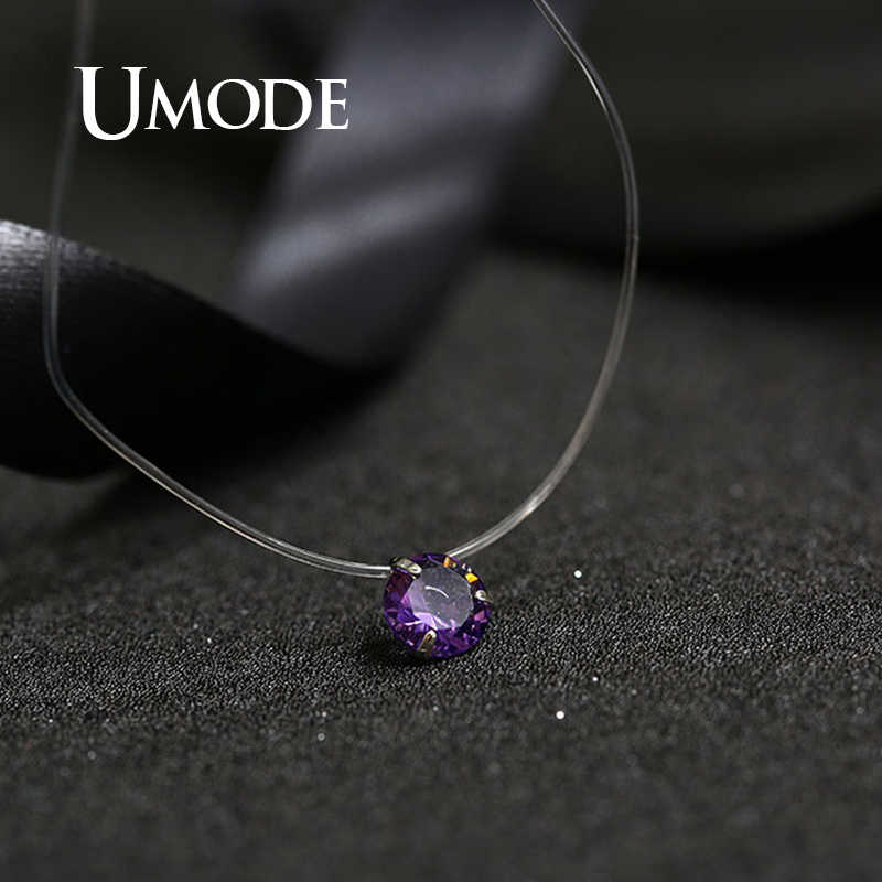 Umode Putri Duyung Baru Air Mata Kalung Meteorit Liontin Line Transparan Memancing Tak Terlihat Wanita Kalung Perhiasan Klavikula UN0362C