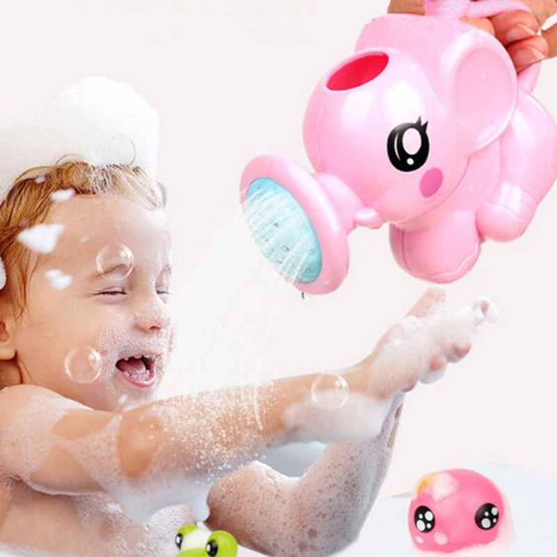 1pc Cartoon Elephant Sprinkling Baby Water Bath Kids Toys for Children Plastic Shower Toy for Bathroom Fun Interactive Games