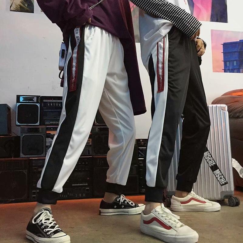 BF Pants Men's Korean-style Trend Capri Pants Loose-Fit Versatile Harajuku-Style Harem Casual Pants Autumn Couples 9 Pants