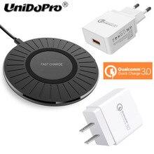 Veloce Caricabatterie Wireless Pad per Elefono E10 / PX Pro / A6 Max U Pro / P9000 Qi Wireless di Ricarica E CONTROLLO di QUALITÀ 3.0 18W EU Adattatore CA DEGLI STATI UNITI
