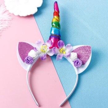 Glitter Unicorn Shaped Headband 4