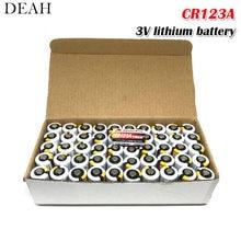 50 sztuk bateria litowa CR123 CR 123A CR17345 16340 cr123a 3v nie do naładowania baterie do aparatu miernik gazu pierwotna sucha bateria