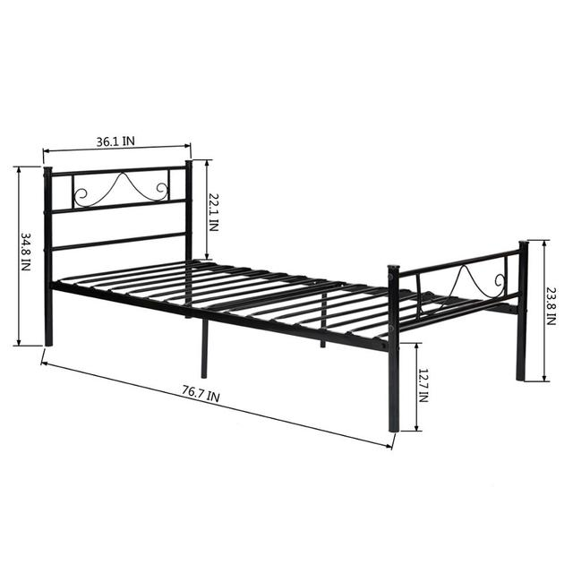 Metal Frame Twin/Full Platform Bed  5