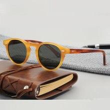 Óculos de sol mulher gregory peck acetato óculos de sol retro moldura redonda ov5186 polarizado óculos de condução vintage