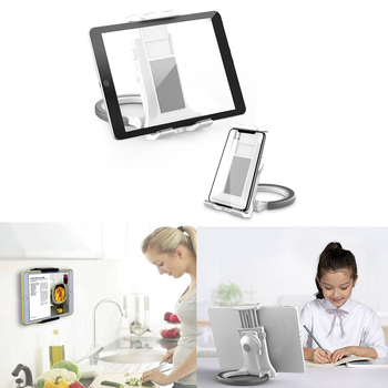 Adjustable Tablet Wall Mount, Foldable Tablet Stand Holder For iPad Mobile Phone Stand For iPhone For Samsung Xiaomi Huawei 1