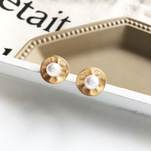 Fashion Pearl Stud Earrings Mattel Golden Sweet Jewelry Vintage Statement For Girls Women Gifts 2019New
