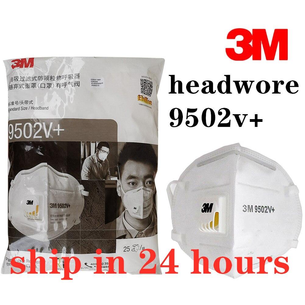 Original 3M 9542V 9502v+ 9501v+ Grey Safety Mask Dust Head Wear Masks Anti-PM2.5 Sanitary Working Respirator Filter Structure