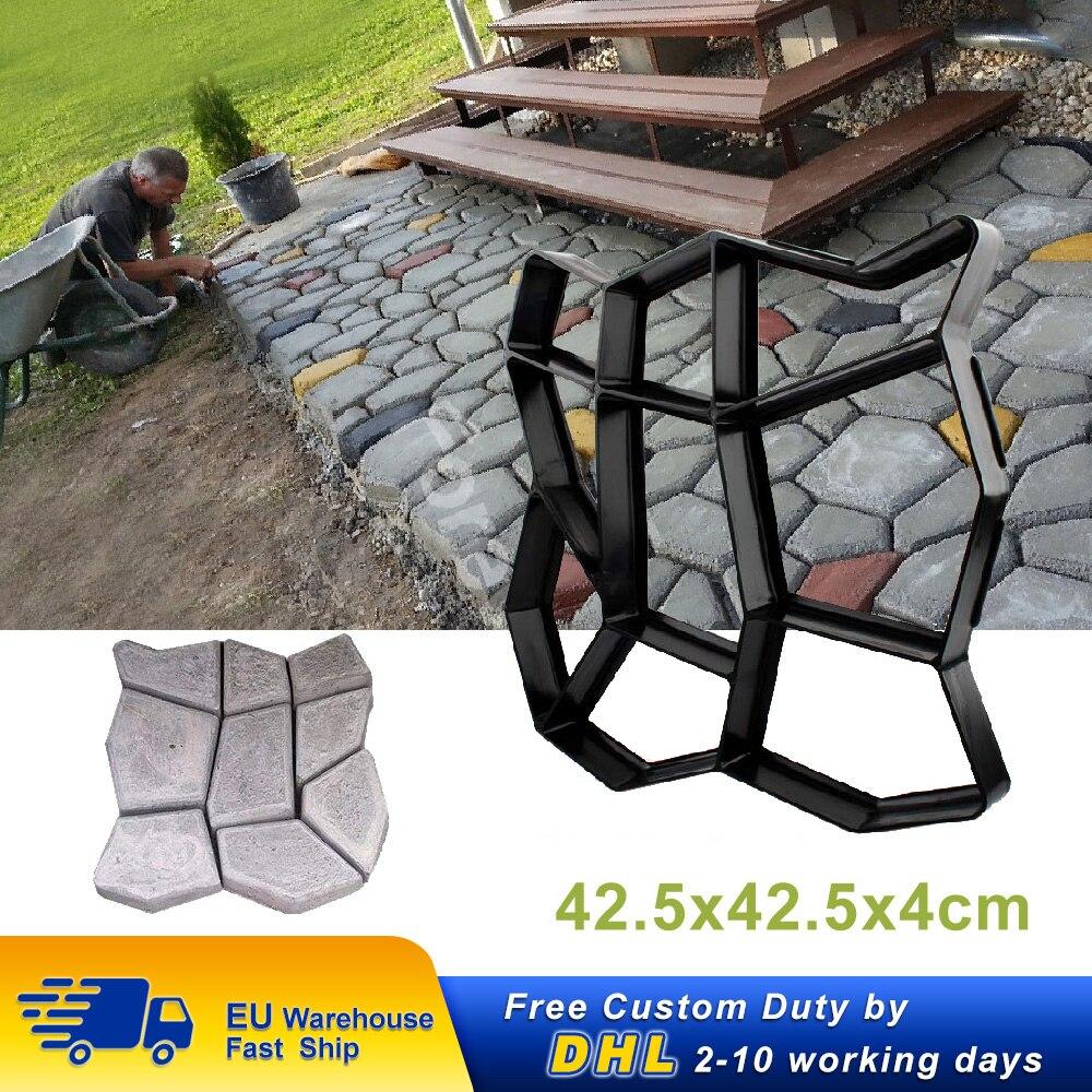 42.5x42.5x4cm Paving Mould Cement Brick Concrete Molds DIY Path Maker Paving Molds Garden Stone Road Mold Decoration