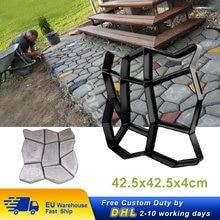 Molde de pavimento para pavimento de jardín, moldes de hormigón de ladrillo de cemento de 42,5x42,5x4cm, DIY, moldes para pavimento, decoración de Camino de piedras