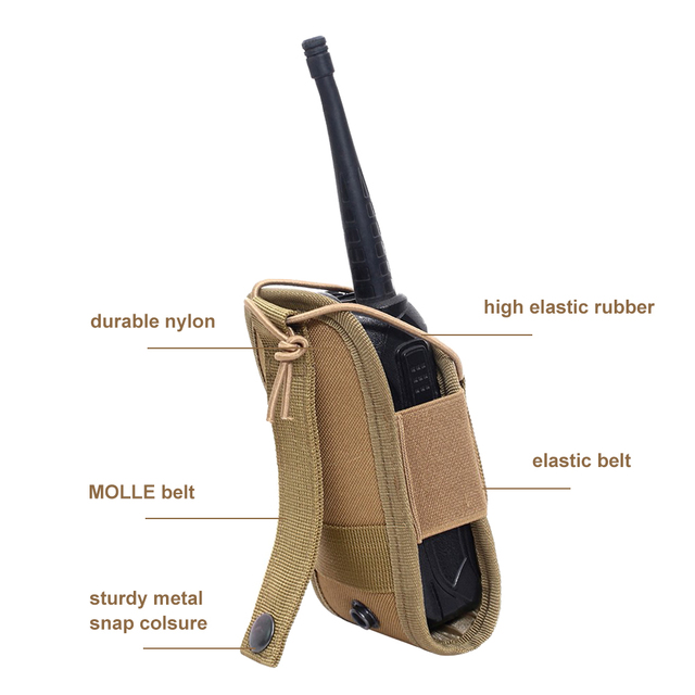 Tactical Molle Radio Pouch Military Walkie Talkies Holster Bag Waist Bag Holder Pocket Interphone Holster Carry Bag For Hunting 4