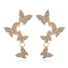 Fashion European American New Popular Temperament Bow Earrings Personality Long Ladies Party Birthday Wedding Jewelry