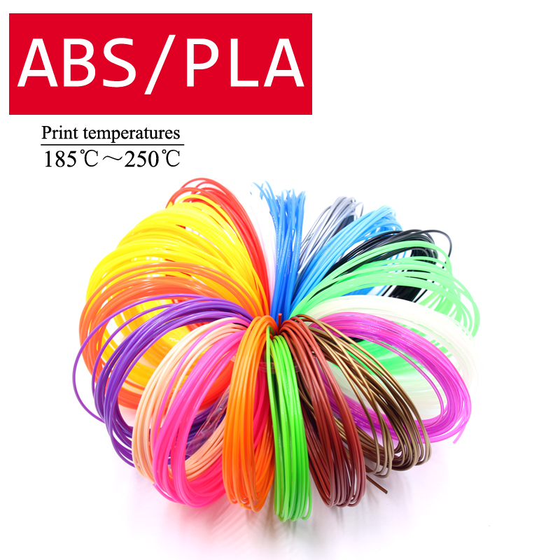 LIHUACHEN 3D Pen filament  ABS PLA plastic 1 75mm 3D Printer Filaments Materials 5 10Meters 10 20 30colors 100 200 300Meters