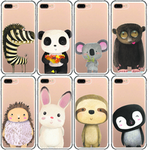 cute zebra tiger panda mouse fox hedgehog squirrel koala bear lion animal phone case for iphone 11 6 7 8 plus 5s x xr xs pro max