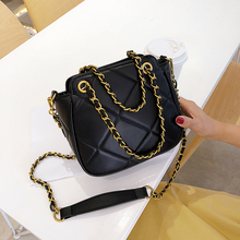 new Fashion Women Bag Leather Handbags PU Shoulder Bag Small Chain Crossbody Bags for Women Diamond lattice Messenger Bags