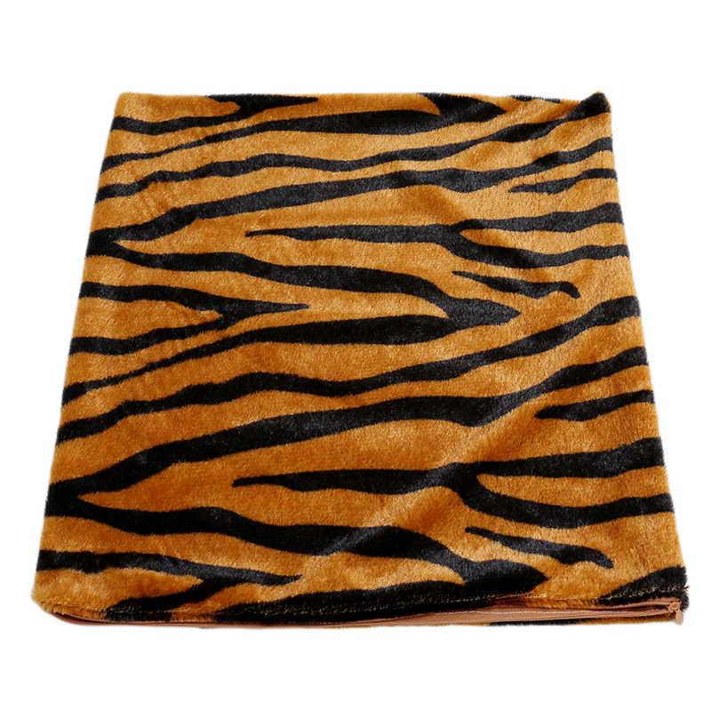 Sofa samochód Faux futrzana poszewka na poduszkę skóra zwierzęca wzór tygrys kot krowa Leopard miękki polar rzuć kwadratowa poszewka na poduszkę Home dekoracyjne