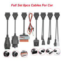 Full Set 8 Truck Car Cables OBD OBD2 Connector Adapter Scanner For Scania For BMW OBD2 Car Diagnostic Auto Tool Multidiag Pro