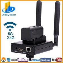 HEVC/H.265 MPEG-4 AVC/H.264 wifi HDMI к IP видео кодер HDMI передатчик прямой поток широковещательный кодер беспроводной RTMP RTMPS