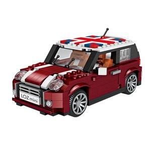 Image 5 - לוז טכני מיני בלוקים רכב רכב דגם אבני בניין מכונית מירוץ מכירה גלידת נקניקיות משאית החינוכי צעצועי מתנות