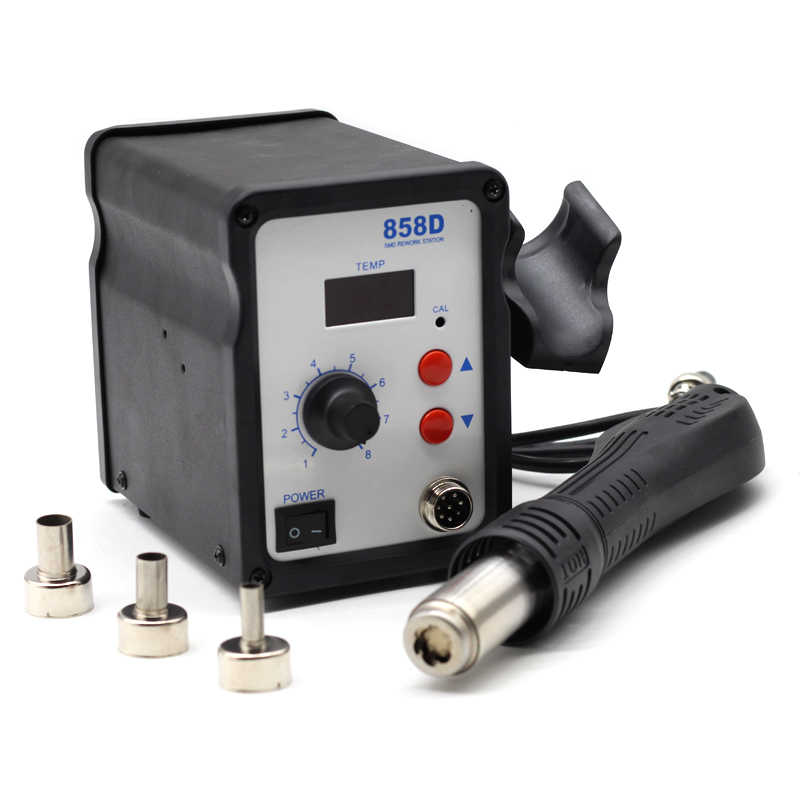 858D горячий воздушный пистолет портативный паяльная станция BGA горячий воздух воздуходувка фен пайка фен 858 858D 8586 керамический нагреватель