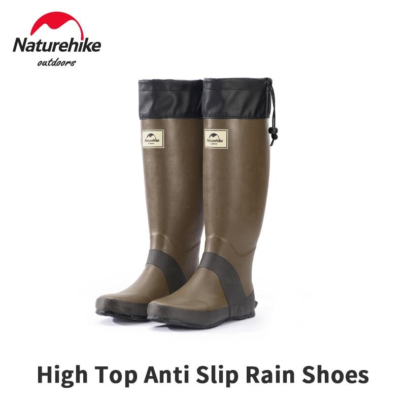 Naturehike Rubber Anti Slip Rain Shoes High Tube Woman/Man Outdoor Water Boots 1.3kg Ultralight Knee-High Rainproof Foot Cover