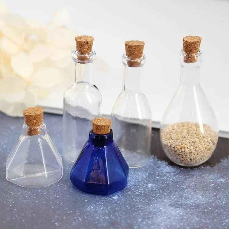 Colgante Colgante de bricolaje artesanías Los viales de botellas vacías deseando encantos 10 un Kit de tapones de corcho