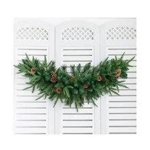Weihnachten Kuh der Hörner Form Rattan/Mahlzeit Hotel Fenster Tür/WEIHNACHTEN Decor/Misch Klebrige Schnee/Festival atmosphäre Szene Kleid Bis