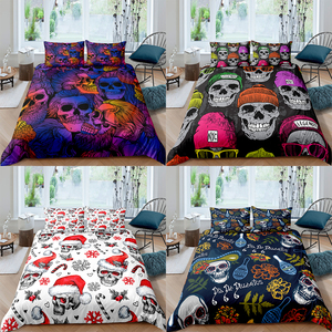 Halloween Skull Bedding Set Duvet Cover Single Double Full Queen King Size Comforter Cover Quilt Cover Bedding Cover Pillow Case