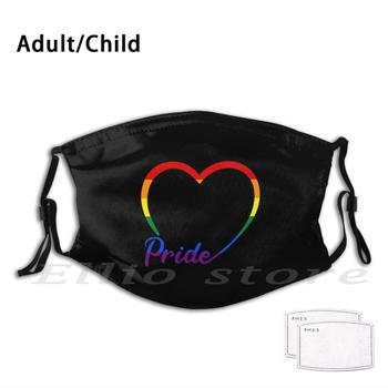 Pride Washable Filter Mask Warm Scarf Mask Gay Lgbt Love Pride Kiss Lgbtq Lesbian Bisexual Queer Cute Gay Pride Yaoi Bara Bear image