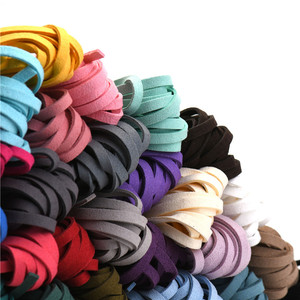 5mm 5m/roll Multi-Color Flat Faux Suede Cord Korean Velvet Leathe Rope for DIY Handmade Jewelry Making Finding Accessories HK040