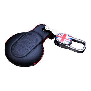 Image 4 - Deri anahtar kutusu araba anahtarlık kapak BMW MINI COOPER S JCW F54 F55 F56 F57 F60 CLUBMAN COUNTRYMAN araba styling aksesuarları