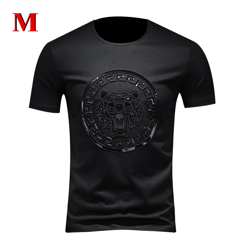 MENNE 2020 New T Shirt Men Shirt Solid Black Shirt Men