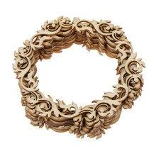 12 sztuk pusty okrągły wieniec kwiatów drewniany wiszący prezent tagi Ornament