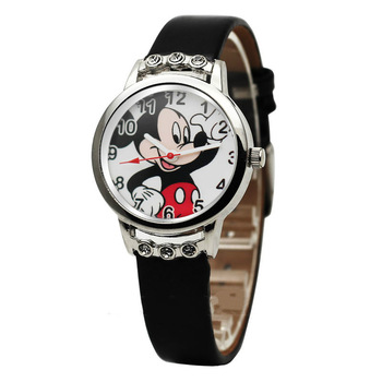 Children watch cute Mickey cartoon Pu jelly girl boy watch leisure quartz clock mickey mouse women  boys watches  cartoon watch relogio feminino children watches fashion casual cartoon girl boy students watch mickey mouse women leather quartz wrist watches