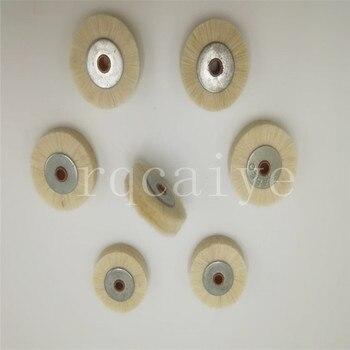 15 piece white high quality soft hair iron core brush, brush wheel for Komori Roland printing machine,size 35*6mm