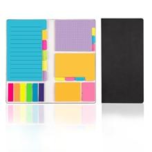 цена на Fresh Rainbow Color Memo Pad Sticky Note Memo Notebook Divider Self-Stick Notes Set Stationery Papelaria Escolar School Supplies
