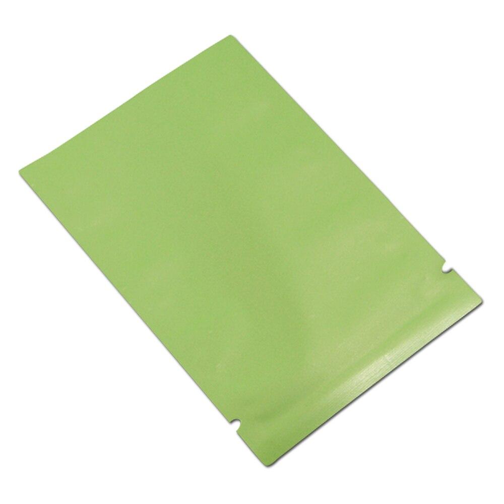 DHL, 2800 шт./лот, матовая зеленая открытая верхняя алюминиевая фольга, сумка для хранения, закуска, кофе, тепловое уплотнение, посылка, мешочки, ...
