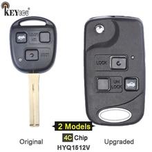 KEYECU 4C Chip HYQ1512V Upgraded / Original 3 Button Remote Car Key Fob for Lexus ES300 GS300 GS430 GS400 IS300  LS400 1998 2005