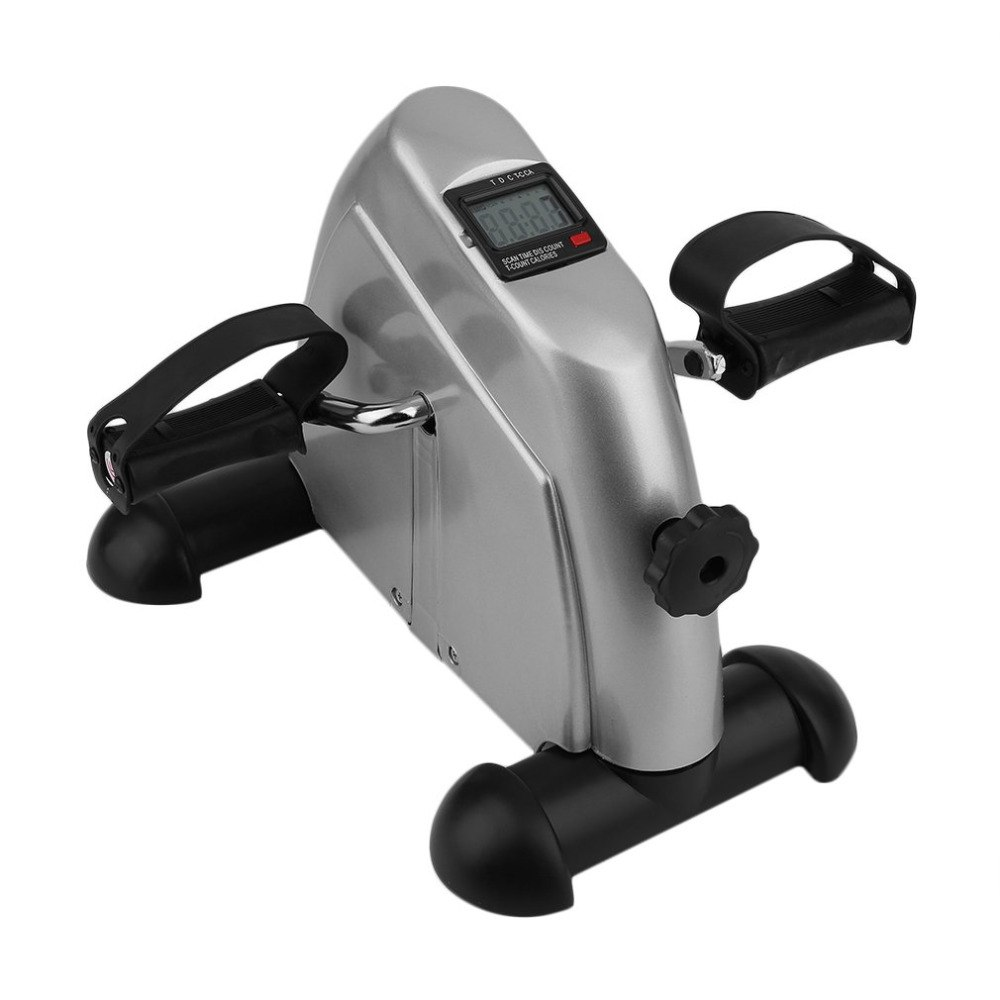 Home Exerciser Cycling Fitness Mini Pedal Exercise Bike LCD Display Indoor Cycling Bike Stepper For The Aged Young Lose Weight