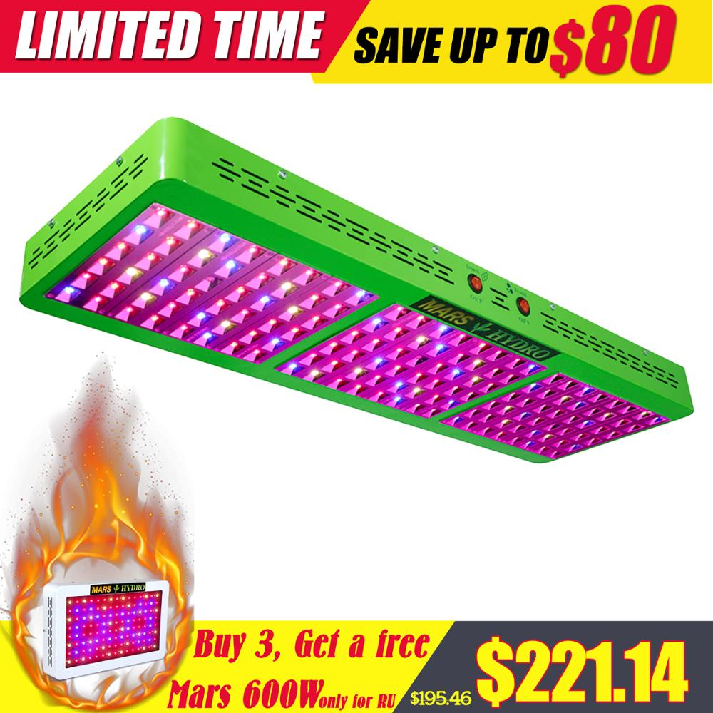 Led Grow Light Mars Hydro Reflector 800W Tanaman Grow Light untuk Hidroponik Tumbuh Kotak Sayuran Bunga Spektrum Penuh