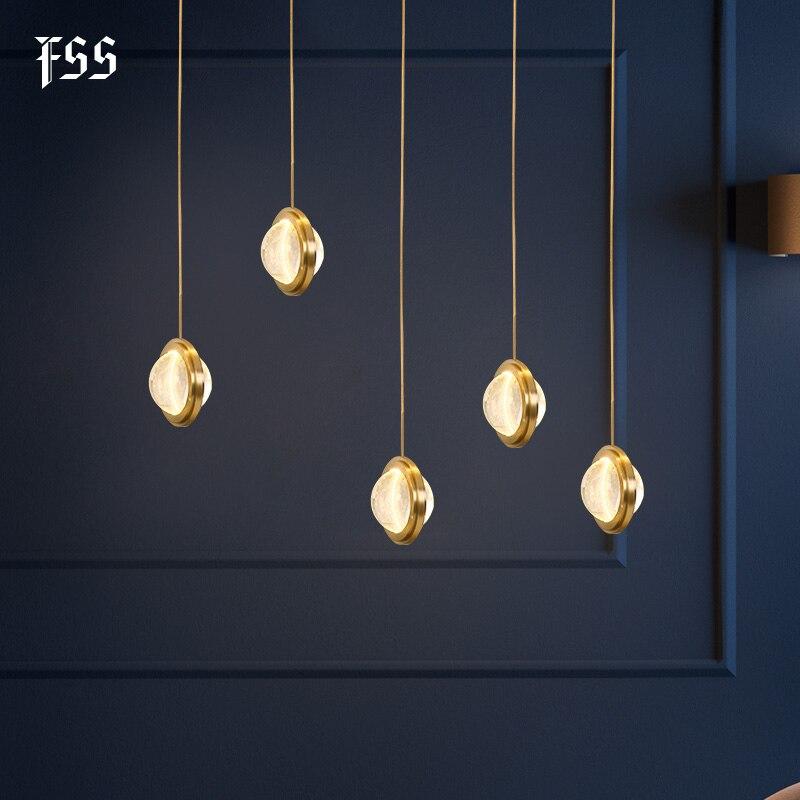 FSS Crystal Ball Pendant Lights Planet Univers Indoor Lights Meteoric Shower Stair Bar Home Indoor Lighting Fixtures AC 110-240V