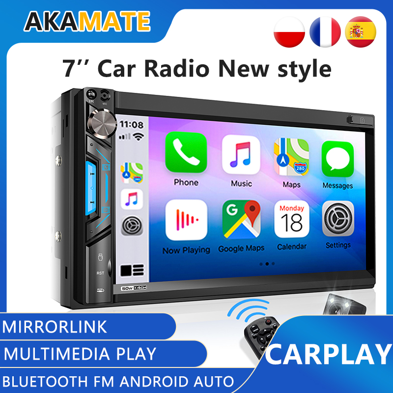 2din Car Radio MP5 Player Mp3 Player Apple Carplay Radio Mirrorlink radio Bluetooth FM Car Radio For Universal 7'' Radio Player