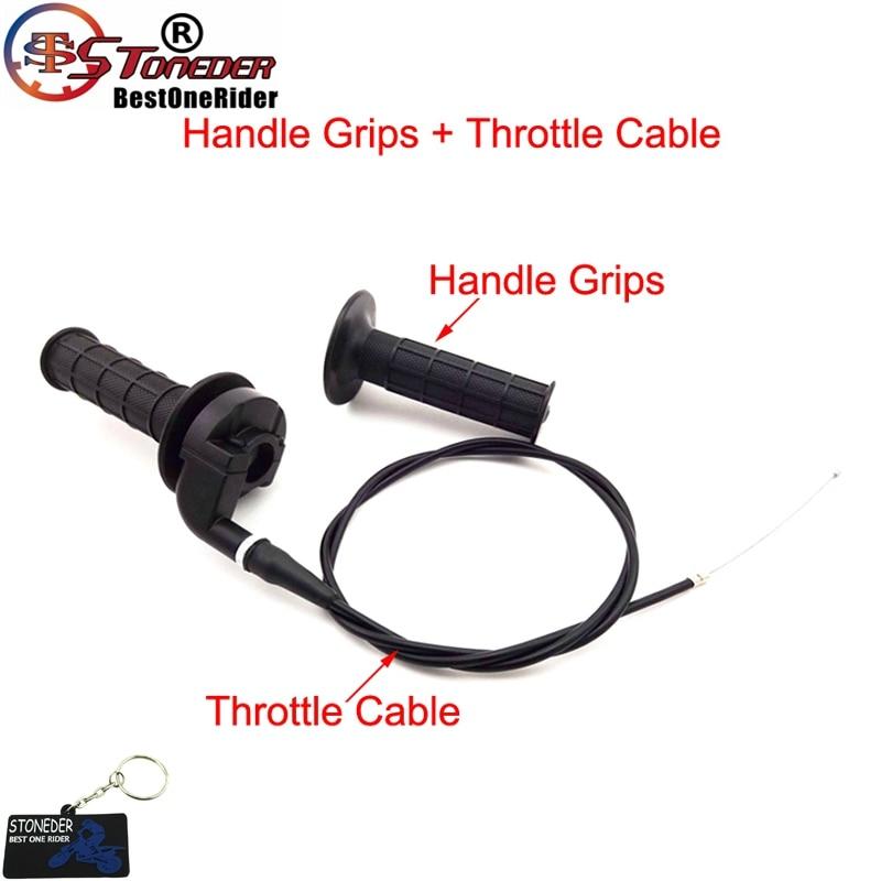 Черные закрученные ручки дроссельной заслонки STONEDER, набор кабелей в сборе для CRF XR 50 70 TTR KLX110 SSR Thumpstar YCF Pit Dirt Bike Engine