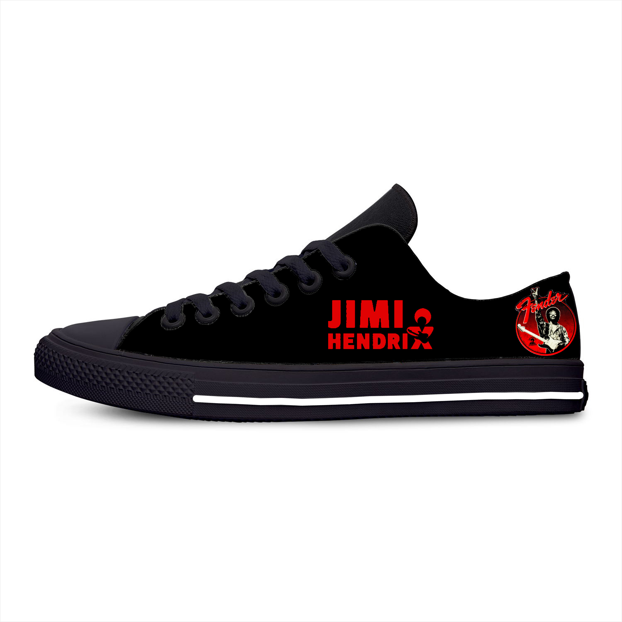 Hendrix Guitar Singer Jimmi Hot Cool Fashion Casual Canvas Shoes Low Top Breathable Lightweight Sneakers 3D Print For Men Women