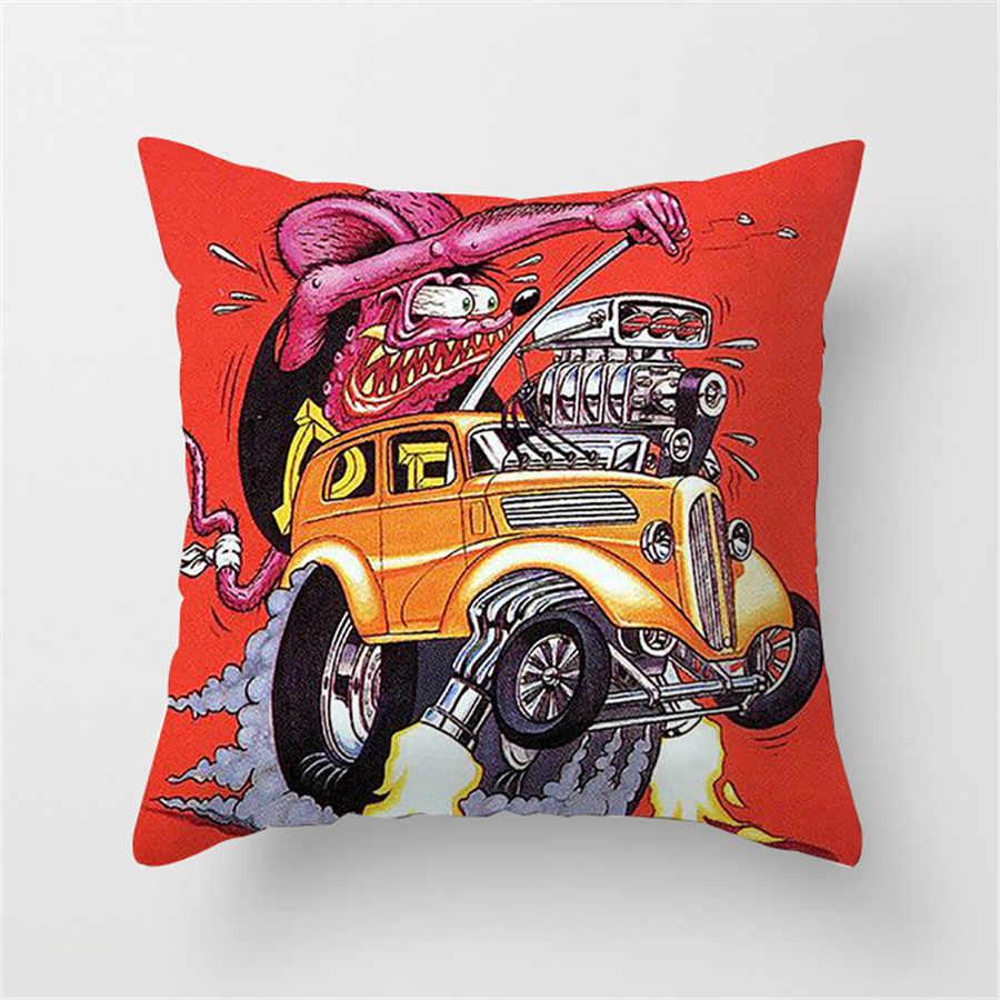1PC 45*45cm Fink Print Kussensloop Bank Auto Bed Sofa Kussensloop Slaapkamer Decoratie Kussenhoes gratis Verzending