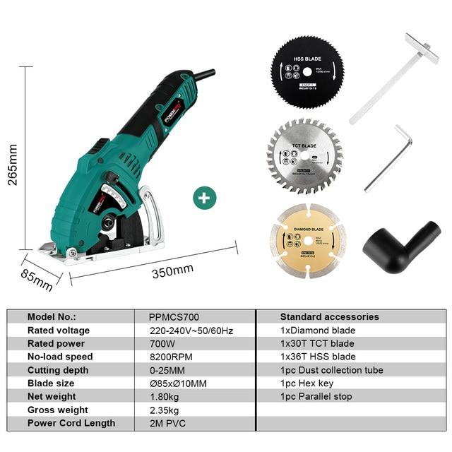 The efficient Compact Mini Circular Saw 700W