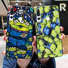 HPCHCJHM Cartoon Toy Story 4 Three eyed alien Black Soft Shell Phone Case for Huawei Honor 30 20 10 9 8 8x 8c v30 Lite view pro hpchcjhm caravaggio the soul and the blood phone case cover shell for huawei honor 30 20 10 9 8 8x 8c v30 lite view pro